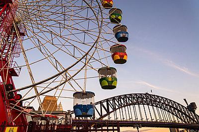Ferris Wheel, Luna Park and Harbour Bridge, Sydney - p1170m1044351 by Bjanka Kadic