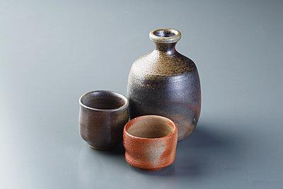 Japanese traditional pottery - p307m1106040f by Hideki Yoshihara