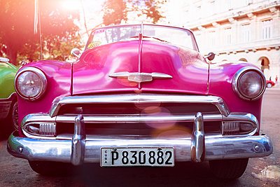 Old vintage american classic car - p1053m1152743 by Joern Rynio