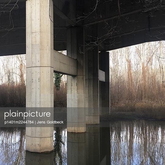 Austria, Bridge near Fischamend - p1401m2244784 by Jens Goldbeck