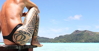 Tribal Tatoo - p0453028 by Jasmin Sander