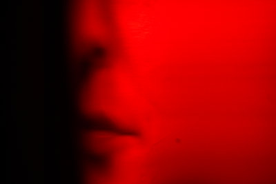 Woman's face - p1321m2210198 by Gordon Spooner