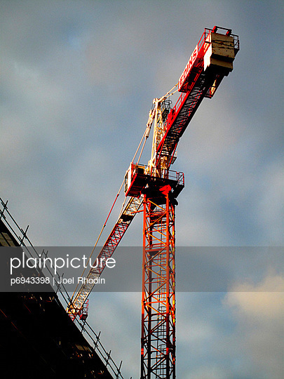 Construction Crane, Low Angle View - p6943398 by Joel Rhodin