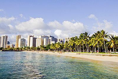 Waikiki Beach - p9070022 by Anna Fritsch