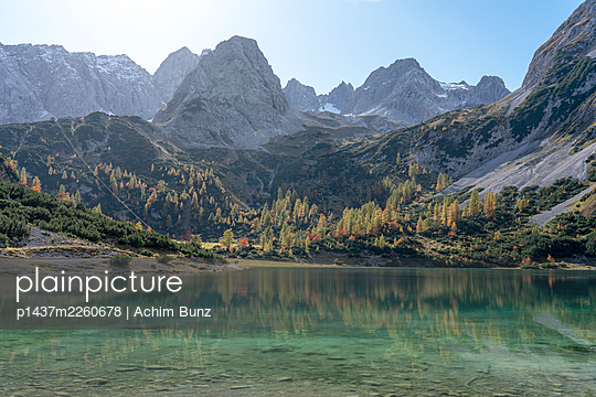 Lake Seebensee, Mieminger Mountains, Switzerland - p1437m2260678 by Achim Bunz