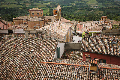 View At Rooftops, Tuscany, Italy - p3071266f by Koji Aoki