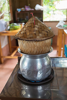 Cooking Sticky Rice - p445m865753 by Marie Docher