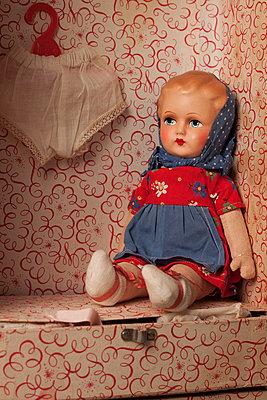 Doll in a dollhouse - p8370021 by Cornelia Hediger