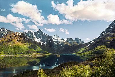 Berge und Fjord auf den Lofoten - p1168m1355216 von Thomas Günther