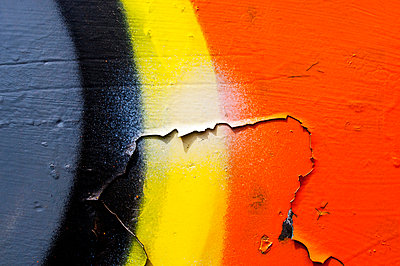 New Mexico, Abstract Of Graffiti On Old Wall. - p442m934907 by Ray Laskowitz