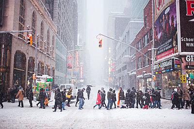 Snowed Times Square - p1290m1112630 by Fabien Courtitarat