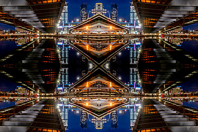Abstract Kaleidoscope Zakim Bunker Hill Memoriam Bridge Boston Massachusetts - p401m2210299 by Frank Baquet