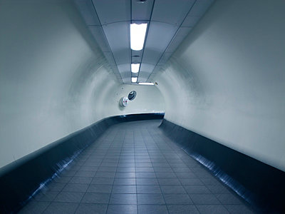 London Underground tube passageway - p1072m829328 by Neville Mountford-Hoare