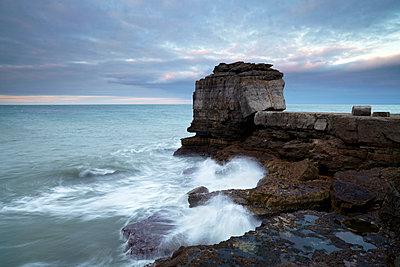 A colourful winter morning at Pulpit Rock, Portland, Jurassic Coast, UNESCO World Heritage Site, Dorset, England, United Kingdom, Europe - p8713942 by Jon Gibbs