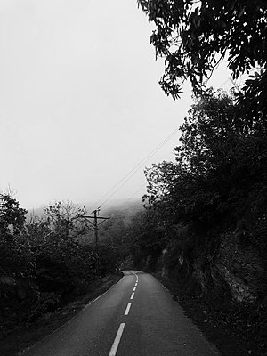 France, Gloomy road - p1150m2228810 by Elise Ortiou Campion