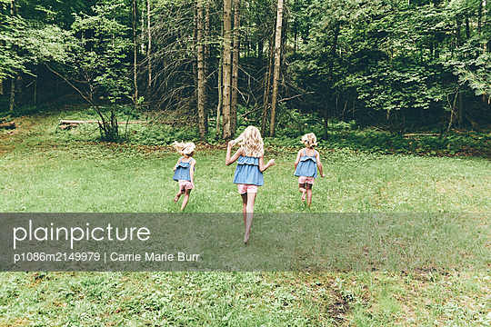 Girls in the forest - p1086m2149979 by Carrie Marie Burr