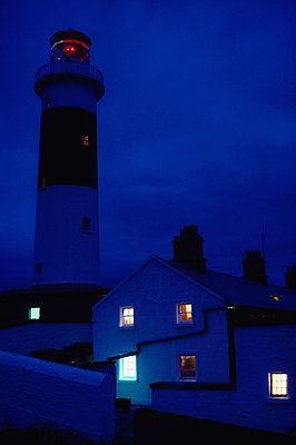 Lighthouse At Night - p44211789 by Richard Cummins