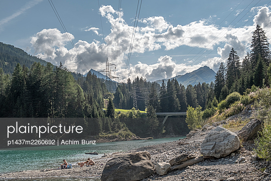 Lake close to San Bernardino road tunnel, Switzerland - p1437m2260692 by Achim Bunz