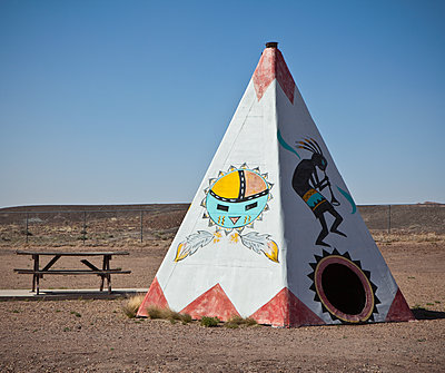 Native American Tipi Replica - p1100m2090855 by Mint Images