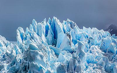 Detail of Perito Moreno Glacier, Los Glaciares National Park, Patagonia, Chile - p429m1495979 by Manuel Sulzer