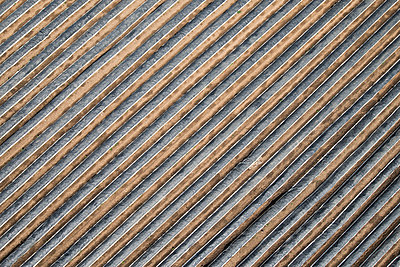 High angle view of plastic covered agricultural field, Stuttgart, Baden-Wuerttemberg, Germany - p301m1406310 by Stephan Zirwes