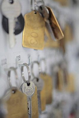 Schlüsselbrett im Hotel - p4830202 von Arne Gerson