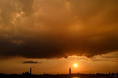 Sonnenuntergang in Venedig - p1493m1584735 von Alexander Mertsch