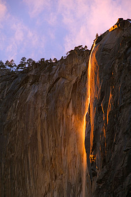 Late afternoon light on Horsetail Falls - p8711519 by Christian Kober
