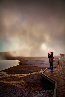 Yellowstone's Geysers and Thermal vents - p1166m2207765 by Cavan Images