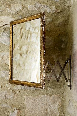 Ancient mirror on wall - p265m1030969 by Oote Boe
