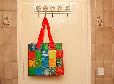 Shopping Bag On door - p1082m1122752 by Daniel Allan