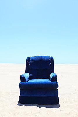 Armchair on the beach - p0452799 by Jasmin Sander