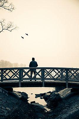 Man Stood On Bridge - p975m954191 by Hayden Verry