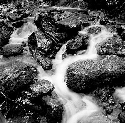 Wasser fliesst ueber Steine - p627m672283 by Kirsten Nijhof