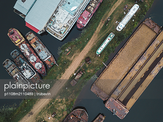 Dockyard in Shlisselburg - p1108m2110489 by trubavin