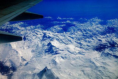 Looking over Mont Blanc from an airplane - p3488205 by Jann Lipka