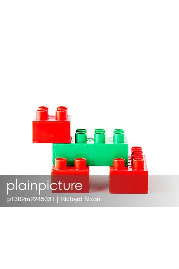 Animal made of toy plastic building blocks - p1302m2245031 by Richard Nixon