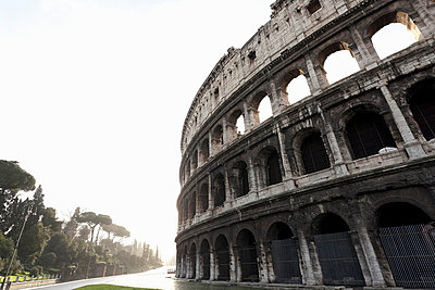 Low angle view of Roman Coliseum - p42917765 by Alex Holland