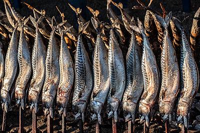Steckerlfische auf dem Oktoberfest - p1243m1552987 von Archer