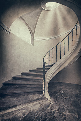 Classical Spiral staircase  - p1280m2089706 by Dave Wall