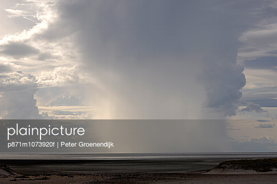 Heavy rain over Etosha National Park, Namibia, Africa