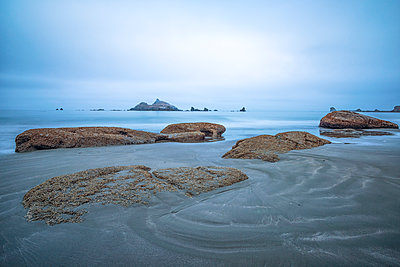 Pebble Beach. Crescent City, California, USA. - p1436m2007890 by Joseph S. Giacalone