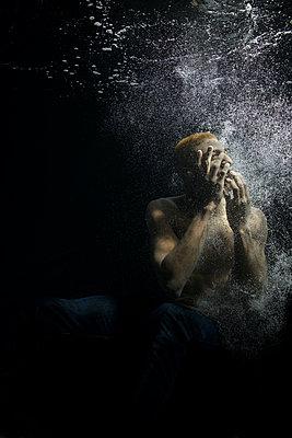 Underwater ballet dancer - p1554m2158941 by Tina Gutierrez