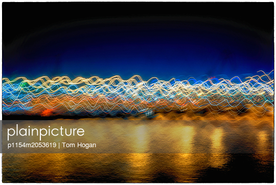 Harbor Lights - p1154m2053619 by Tom Hogan