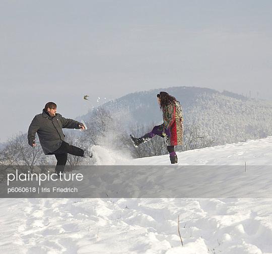 Im Schnee - p6060618 von Iris Friedrich