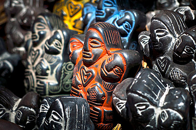 Witches' Market, Mercado de las Brujas, Pachamama Statues For Sale, Mother Earth Goddess Of The Indigenous Aymarans, La Paz, Bolivia - p651m860435 by John Coletti photography