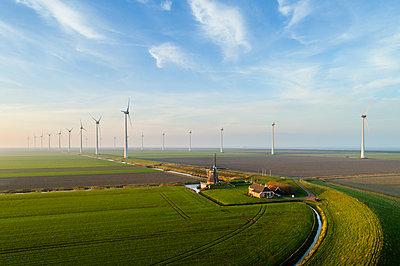 Farm and wind farm - p1132m2038594 by Mischa Keijser