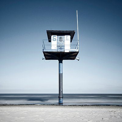 lifeguard station at the beach - p300m885200f by wecand