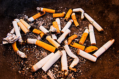 A collection of cigarette butts - p4423626f by Design Pics