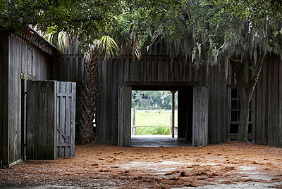 Barn and Courtyard - p694m663684 by Maria K